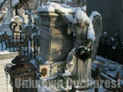 Funerary monument in Bellu Cemetery, Bucharest