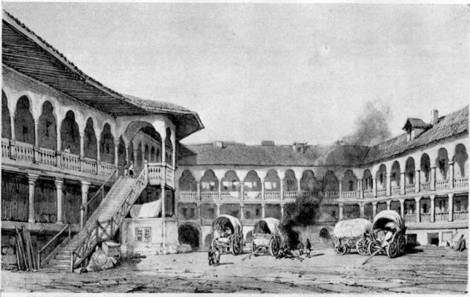 Manuc's Inn, Bucharest 1841.