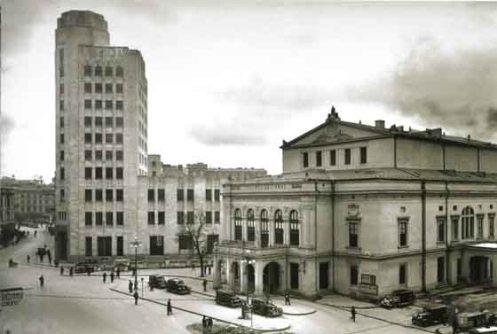 Old National Theatre on Calea Victoriei, Bucharest 1942