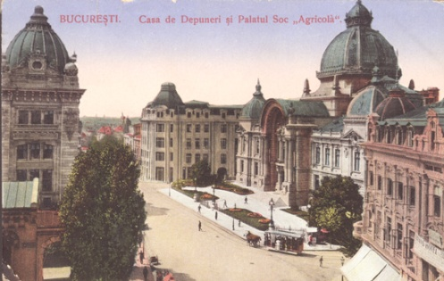 Savings Bank Palace on Calea Victoriei, Bucharest, early 1900s