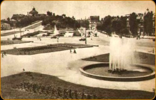 Unirii Square in the 1930s, view toward the Mitropoly Hill