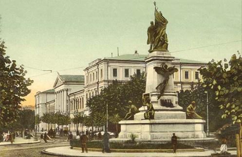 Romanian politician I.C.Bratianu monument Universitatii Square Bucharest