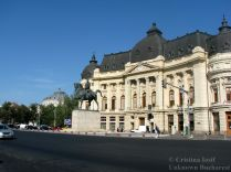 Calea Victoriei in front of the Carol I University Foundation, Palace Square, central Bucharest
