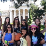 Group picture in front of the Romanian Athenaeum, Bucharest, July 2014