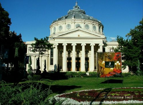 The Romanian Athenaeum, downtown Bucharest