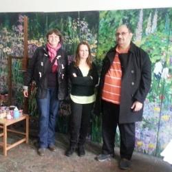 With Parag, visiting artist Mirela Traistaru