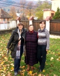 With local artisans mother and daughter in Saliste village, Sibiu Hinterland, Transylvania, Oct2013