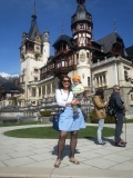My youngest visitor so far at Peles Castle in Sinaia, April 2015
