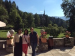 Lovely summer morning at Peles Castle with nice visitors from India, Aug2015