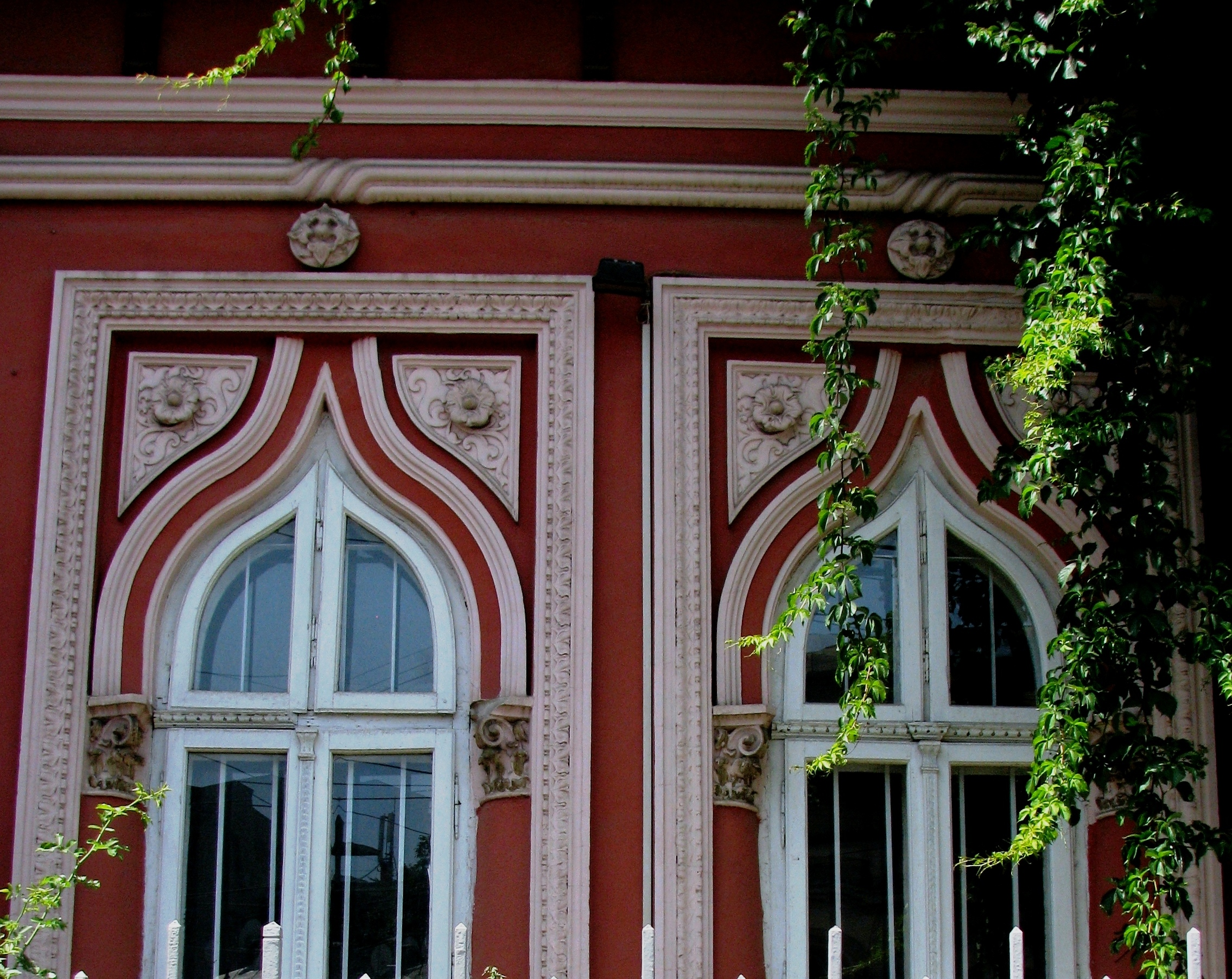 House window styles - Early Neo Romanian Style Windows With Pointed Arches Bucharest