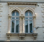 Early Neo-Romanian style windows of a late 19th century villa, Bucharest