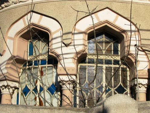 Neo-Romanian style house windows, Bucharest