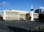 Former headquarters of Romanian Communist Party's Central Committee and the Revolution Memorial,Bucharest