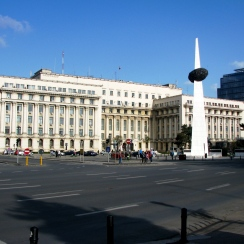Former headquarters of Romanian Communist Party's Central Committee and the Revolution Memorial, Bucharest