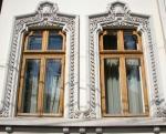 Mature Neo-Romanian style windows,Bucharest