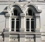 Neo-Romanian style windows with Art Nouveau features,Bucharest