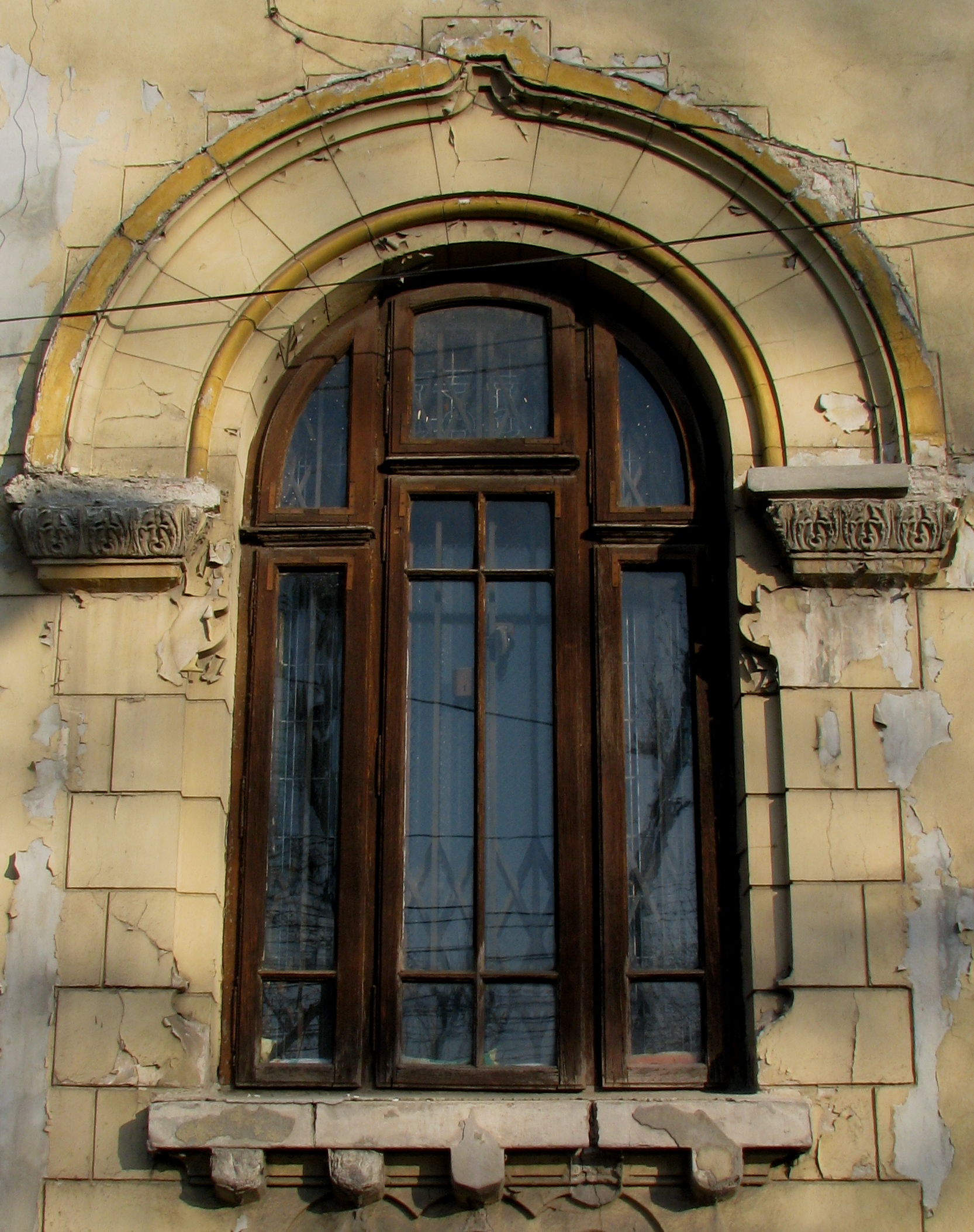 National romantic and neo romanian style house windows in for Curved windows