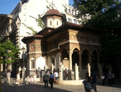 The 18th c. Stavropoleos Monastery, Bucharest's Old Town