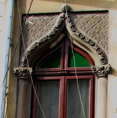 Early Neo-Romanian style house window, Bucharest, Armenian neighborhood
