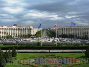 View to Unirii Boulevard, Bucharest