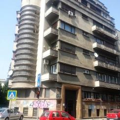 Art Deco apartment building 1933 arch. Marcel Locar central Bucharest