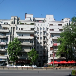 Art Deco apartment building 1934-1935 arch. Jean Monda Balcescu Bld Bucharest
