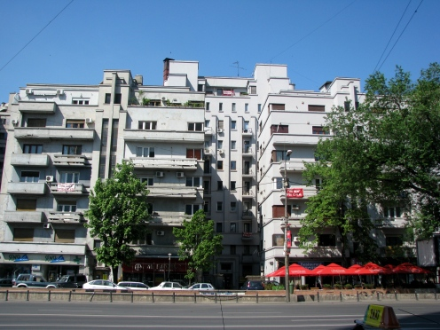 Art Deco apartment building 1934-1935 arch. Jean Monda Balcescu Bld Bucharest