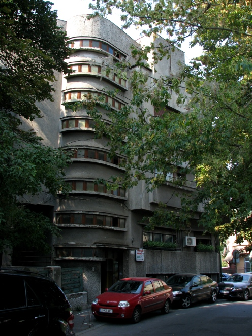 Art Deco apartment building (1935, arch. Zilbermans) central Bucharest