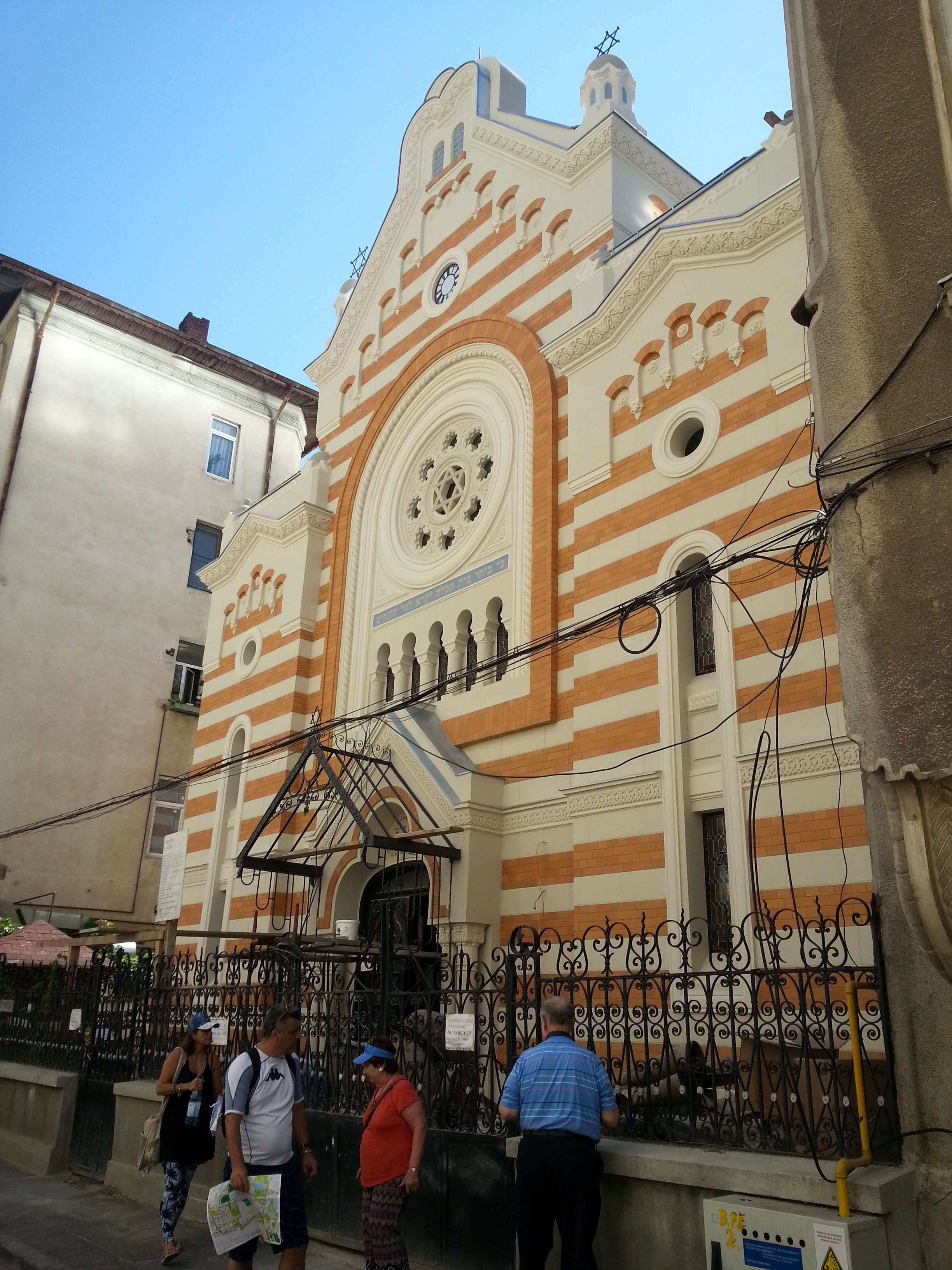 The Holy Union Synagogue in Bucharest during restoration works | Bucharest Uncovered
