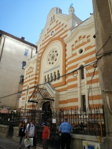 The Holy Union Synagogue in Bucharest during restoration works