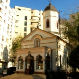 Cuibul cu Barza Church (1760) Bucharest (photo Dec 2009)