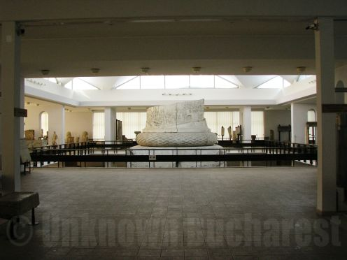 The National History Museum Bucharest, view to the Lapidarium