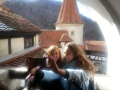 Taking Selfie at Bran Castle, Transylvania