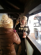 Cheerful visitors at Bran Castle