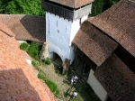 Viscri fortified church, view frombelltower