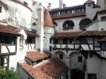 The intricate architecture of Bran Castle, Transylvania – view of innerwalls