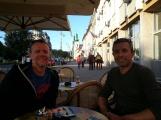 Having a coffee in Targu Mures, Transylvania