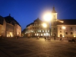 Charming, peaceful atmosphere in Sibiu's Grand Square atnight