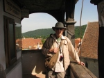 In the top gallery of the Clock Tower,Sighisoara