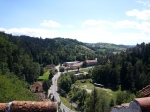 Amazing view from the upper terrace of BranCastle