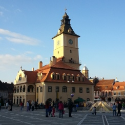 The Council Square, Brasov Old Town, Transylvania