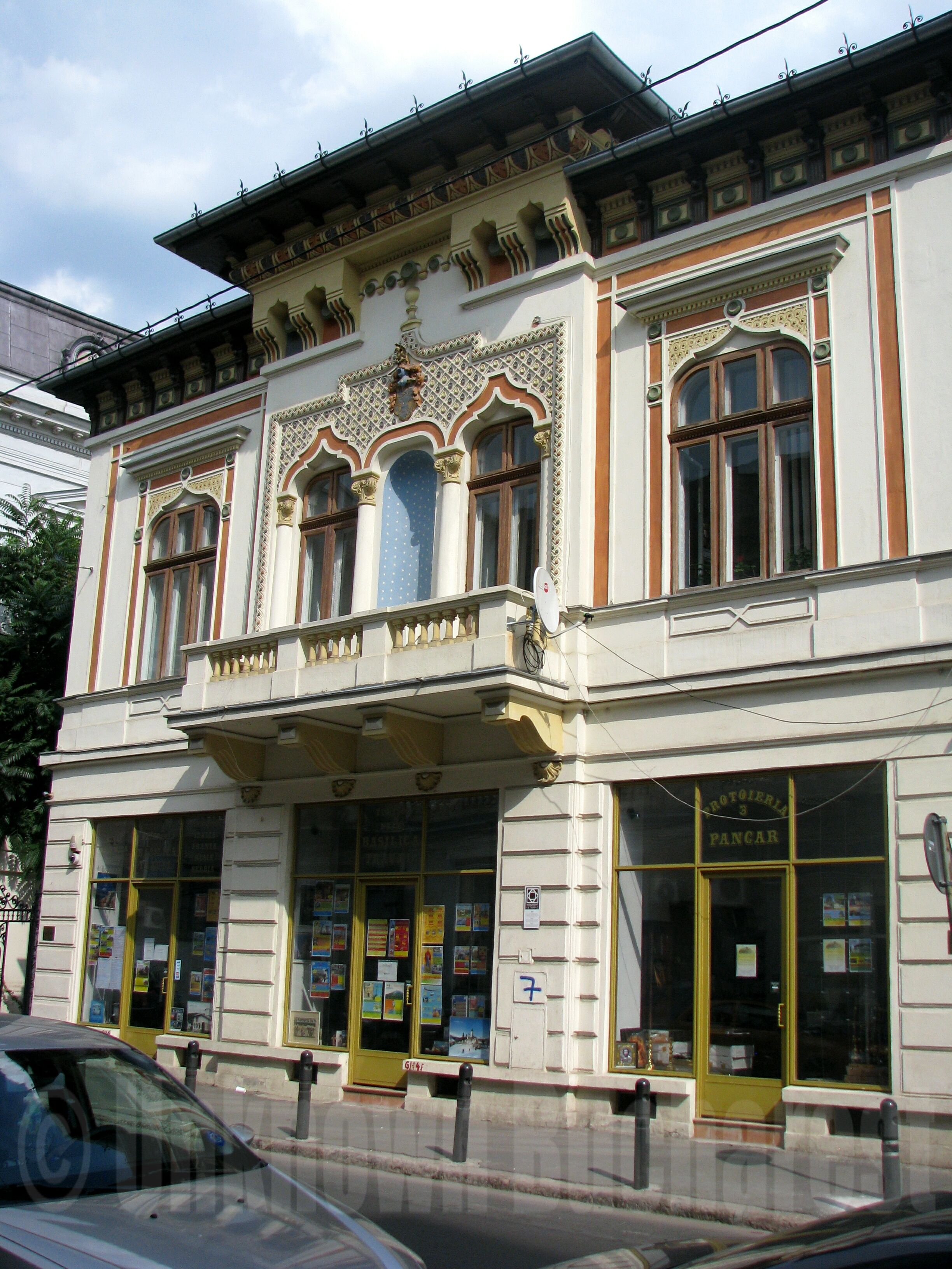 Early Neo Romanian Style Building In Bucharest S Old Town