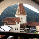 Bran Castle, Transylvania -view from the terrace