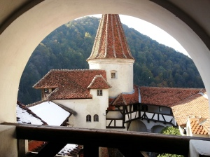 Bran Castle terrace view