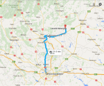 1-day wine tour from Bucharest to Dealu Mare ItineraryMap