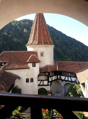 Bran Castle, Transylvania, terrace view
