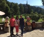 Wonderful summer morning at Peles Castle with my guests and friends from India, Aug2015