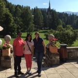 Wonderful summer morning at Peles Castle with my guests and friends from India, Aug 2015