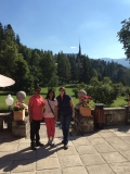 Wonderful summer morning at Peles Castle with my guests and friends from India