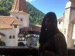 Anjulee at Bran Castle, July2015
